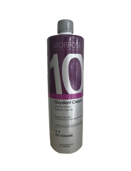 Professional Oxidant - 9% Morfose Professional Color Lock Oxydant Cream, 30 VOLUME, 1000ml.
