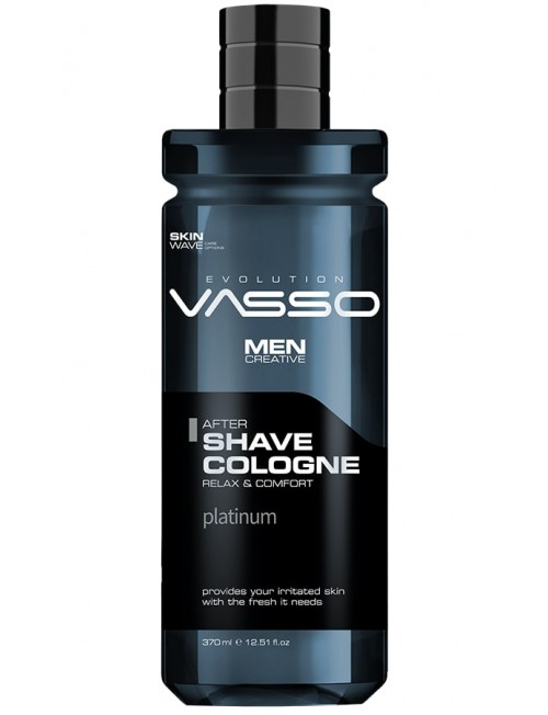 Professional aftershave cologne with woody scent VASSO AFTERSHAVE COLOGNE PLATINUM, 350ml.
