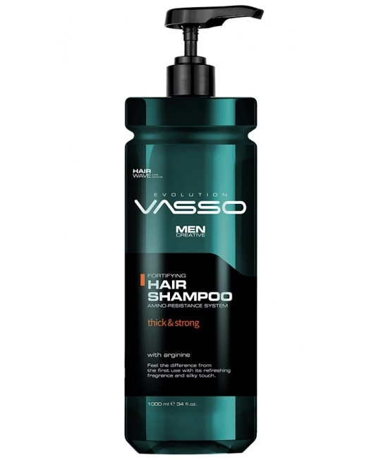 Professional shampoo for thin and brittle hair VASSO HAIR SHAMPOO THICK & STRONG, 1000ml