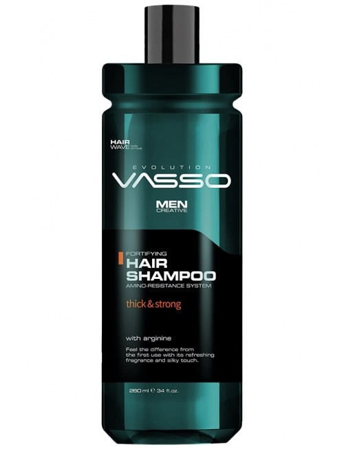 Professional shampoo for thin and brittle hair VASSO HAIR SHAMPOO THICK & STRONG, 260ml