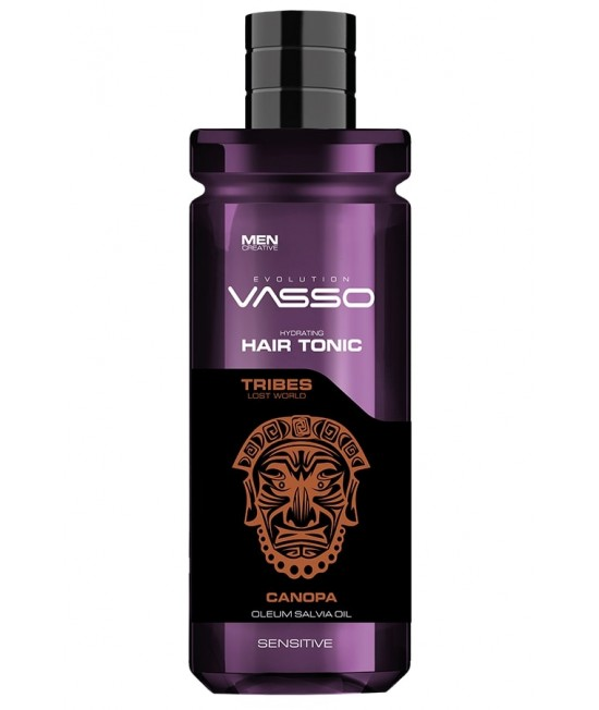 Professional hair tonic with salvia oil and calendula extract VASSO HAIR TONIC SENSITIVE CANOPA FOR SENSITIVES HAIRS, 260ml.