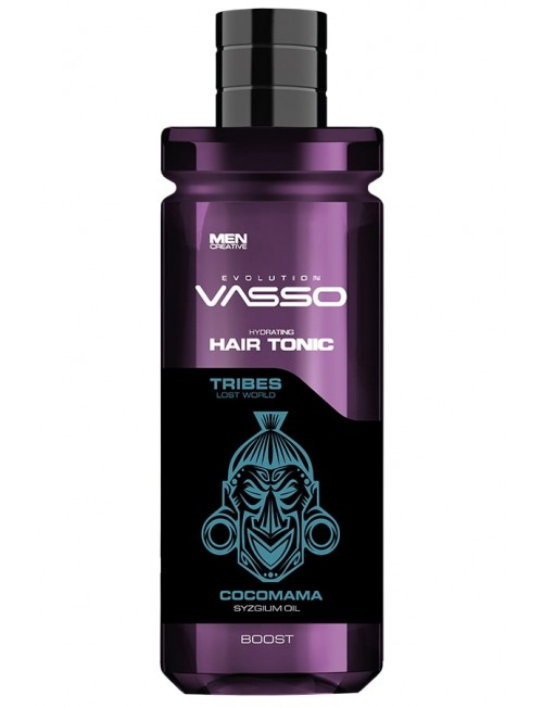 Professional tonic for thin hair with carnation VASSO HAIR TONIC BOOST COCOMAMA FOR WEAK HAIR, 260ml.