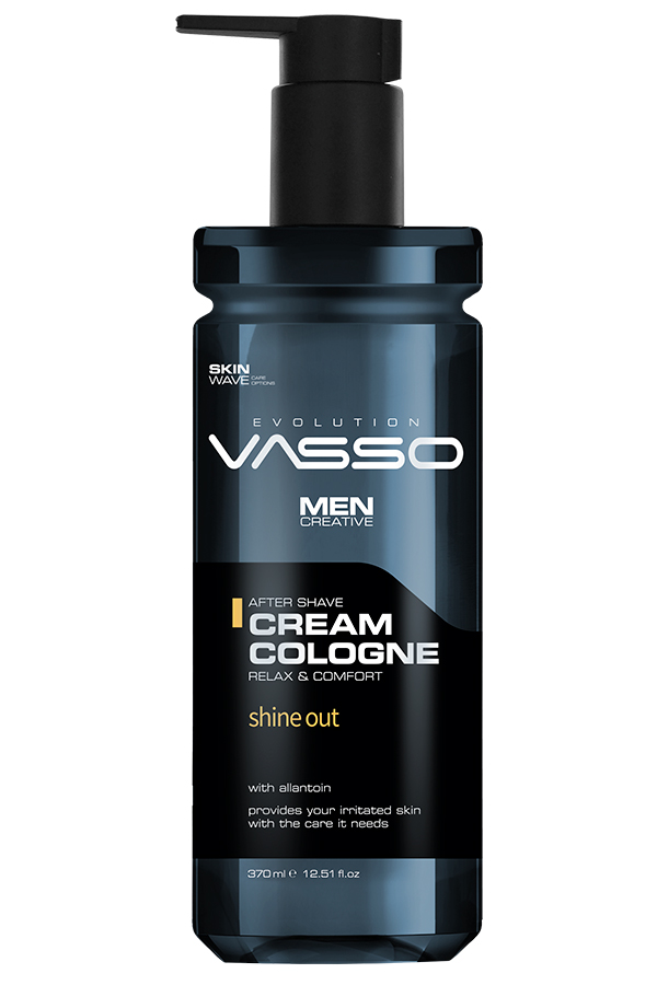 Professional aftershave balm with allantoin anti-irritant and oily skin type VASSO AFTERSHAVE CREAM COLOGNE SHINE OUT, 350ml.