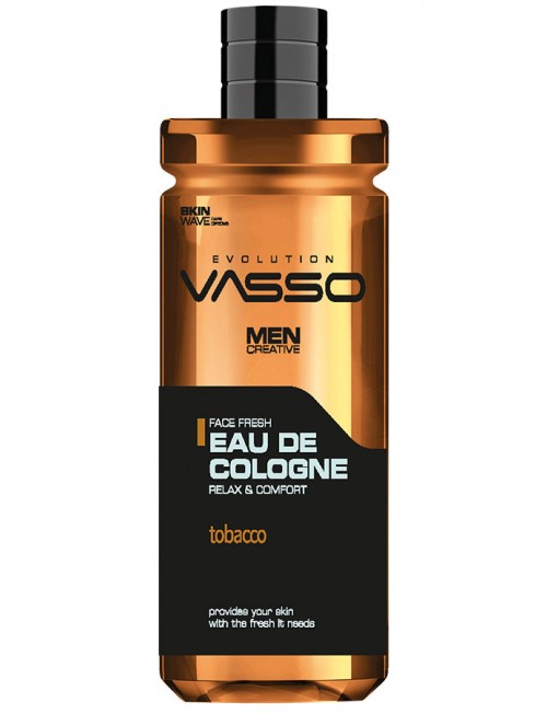 Professional cologne with aroma of soft tobacco VASSO EAU DE COLOGNE TOBACCO, 350ml.
