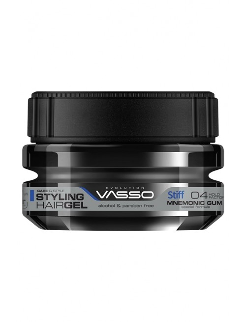 Professional Hair Gel for a Healthy Look and Wet Effect VASSO MNEMONIC GUM STYLING HAIR GEL STIFF, 250ml