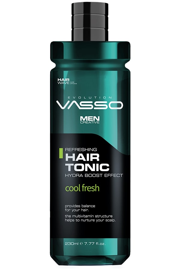 Professional hair tonic with refreshing effect VASSO HAIR TONIC REVITALIZING COOL FRESH, 260ml.