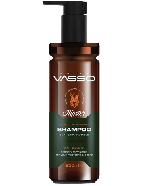 Professional beard and mustache shampoo VASSO MUSTACHE & BEARD SHAMPOO, 260ml.