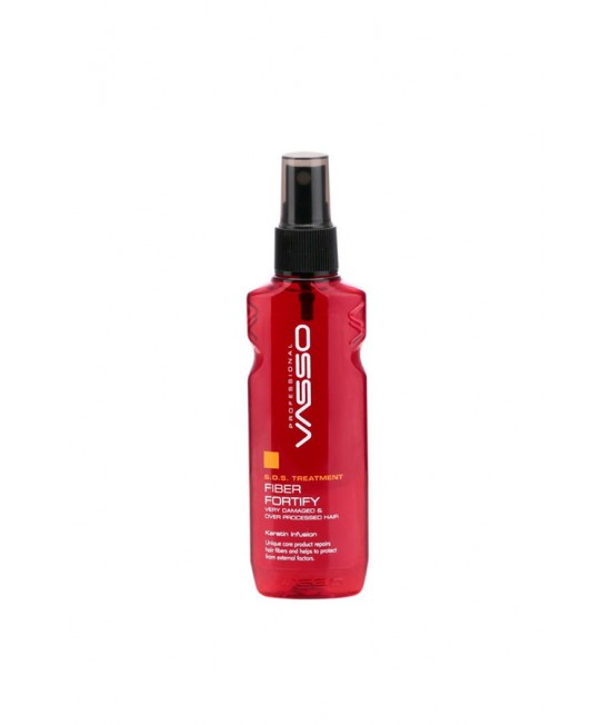 Professional hair conditioner with fiber VASSO S.O.S TREATMENT FIBER FORTIFY, 80ml.