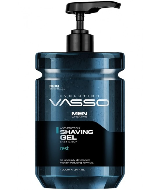 Professional Shaving Gel VASSO SHAVING GEL REST, 1000ml.