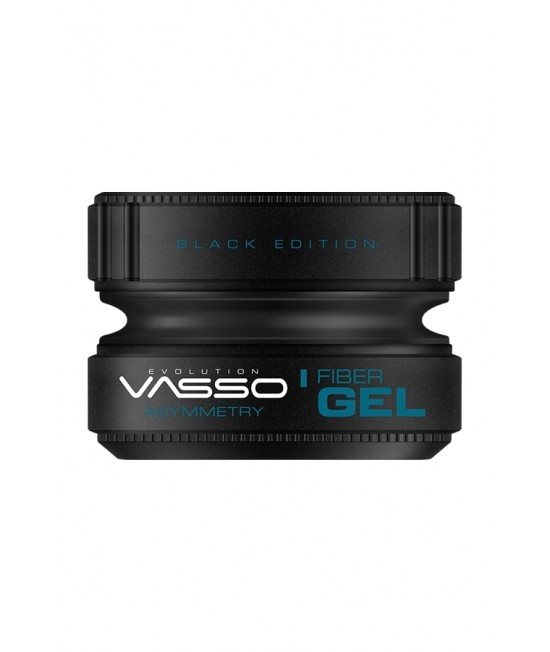 Professional strong gel with strong structure for dynamic shapes VASSO FIBER GEL BLACK EDITION ASYMMETRY, 150ml.