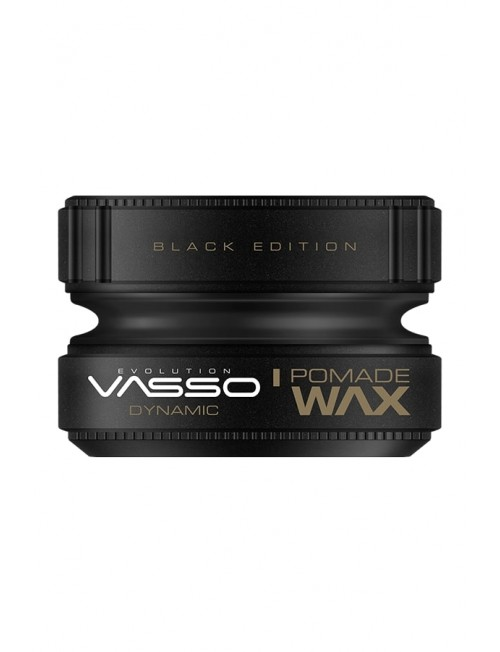 Professional hair wax for fixation and shine VASSO POMADE WAX BLACK EDITION DYNAMIC, 150ml.