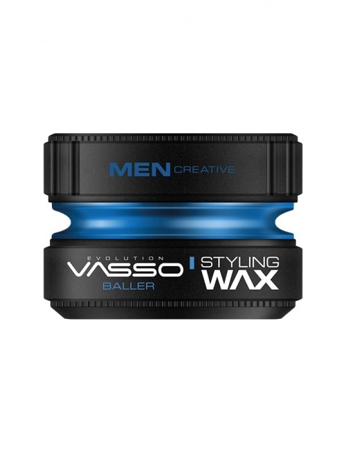 Professional Hair Wax for Wet and Shiny VASSO STYLING WAX PRO-AQUA BALLER, 150ml.