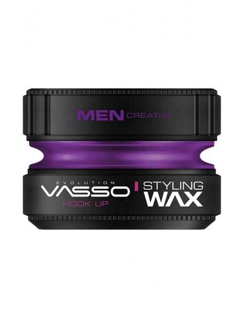 Professional hair wax with super strong fixing and shine VASSO STYLING WAX PRO-AQUA HOOK UP, 150ml.
