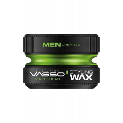Professional hair wax for strong fixation and matting effect VASSO STYLING WAX PRO-MATTE MATTE HEAD, 150ml.