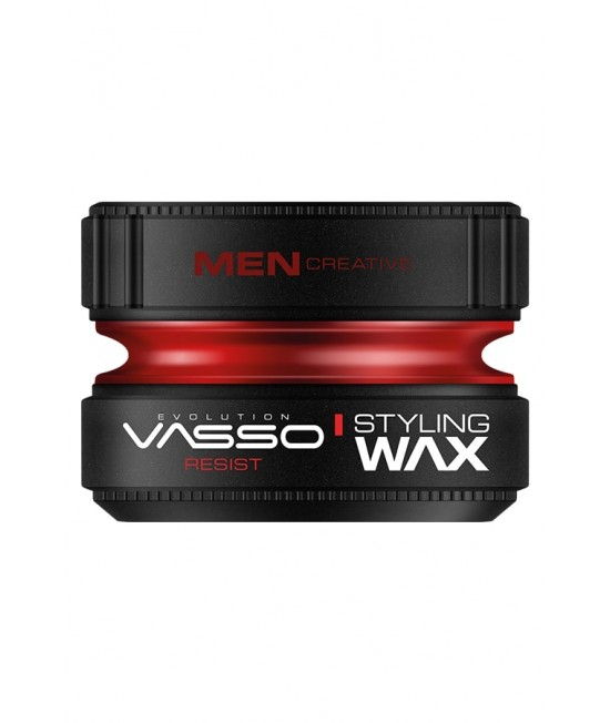 Professional hair wax with ultra-strong fixing and shine VASSO STYLING WAX PRO-AQUA RESIST, 150ml.