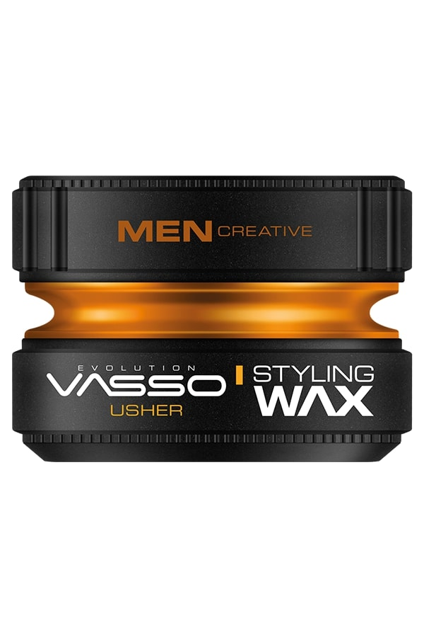 Professional hair wax for natural effect and shine VASSO STYLING WAX PRO-AQUA USHER, 150ml.