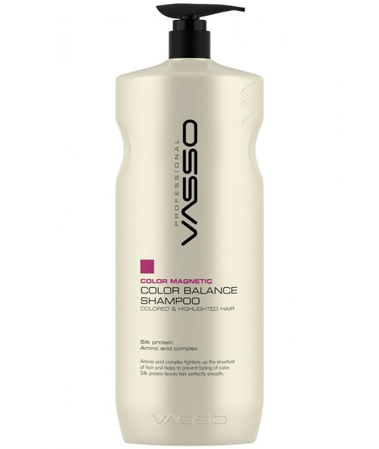 Professional hair color balance shampoo VASSO MAGNETIC COLOR BALANCE SHAMPOO, 1500ml