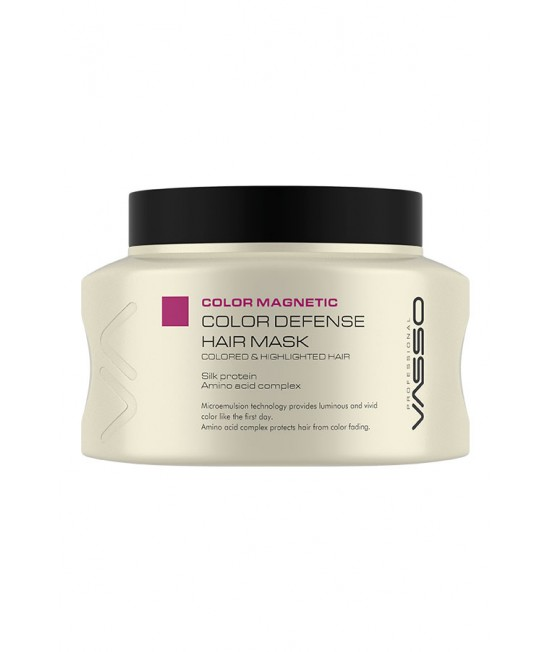 Professional Hair Color Mask VASSO MAGNETIC COLOR DEFENSE HAIR MASK, 525ml