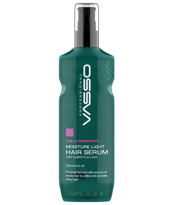 Professional moisturizing light hair serum VASSO AQUA THERAPY MOISTURE LIGHT HAIR SERUM, 175ml.