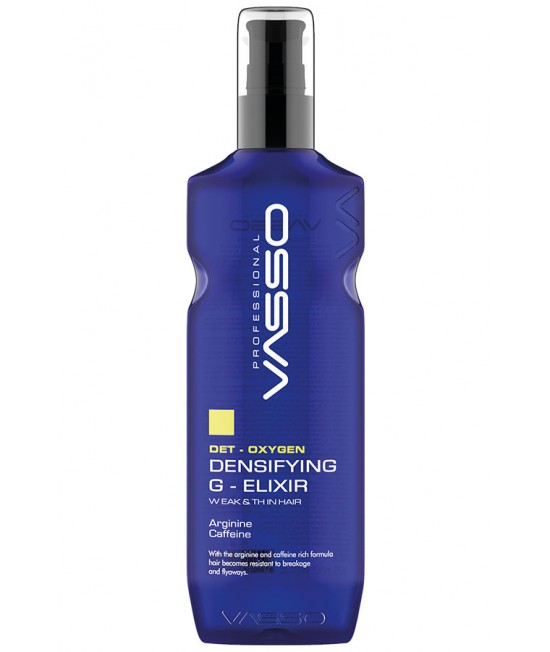 Professional hair straightener VASSO DET-OXYGEN DENSIFYING G-ELIXIR, 175ml.
