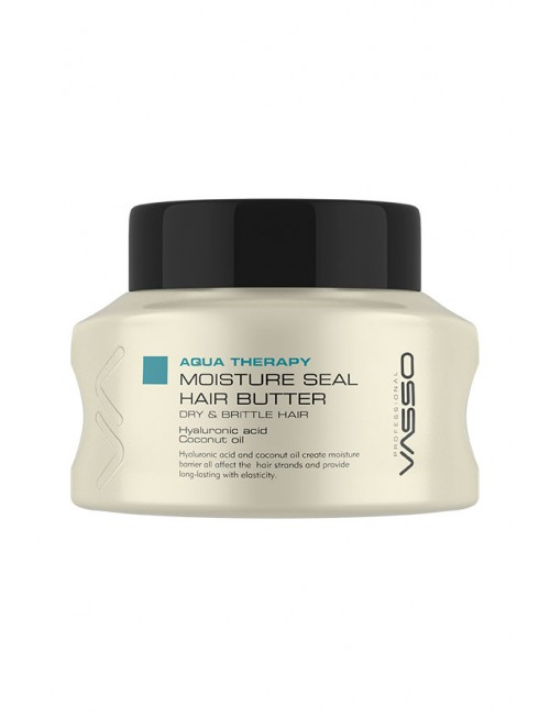 Professional Hair Mask VASSO AQUA THERAPY MOISTURE SEAL HAIR BUTTER, 150ml