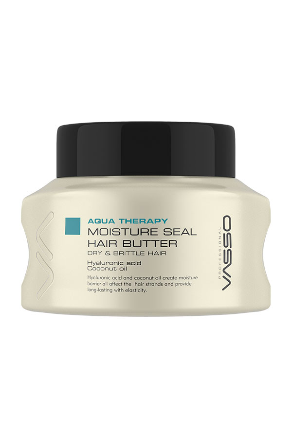 Professional Hair Mask VASSO AQUA THERAPY MOISTURE SEAL HAIR BUTTER, 525ml