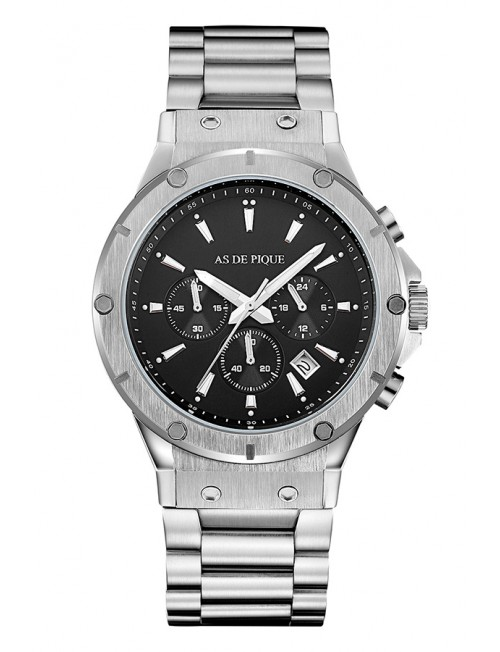 Men's Watch AS DE PIQUE Master Silver