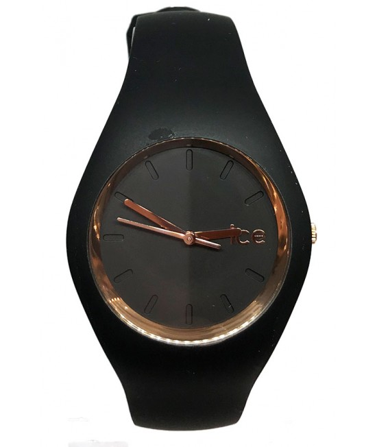 Ladies watch ICE-Watch Ice Glam rosegold black SEC