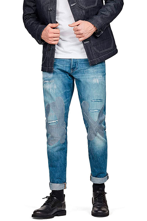 G-Star Raw 3301 Straight Restored Tapered Fit Jeans D13413, men's jeans.