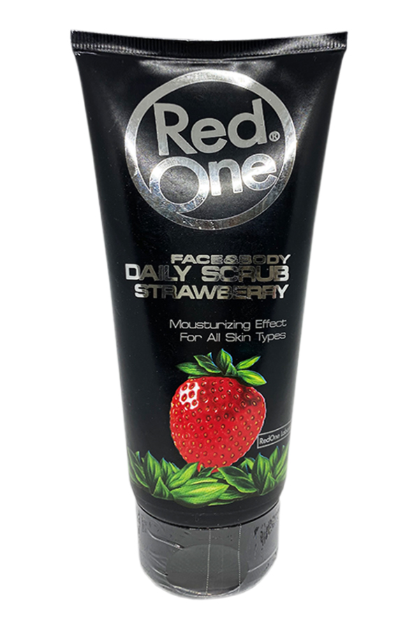Daily moisturizing face and body scrub with strawberry RedOne Face & Body Daily Scrub Strawberry, 170ml.