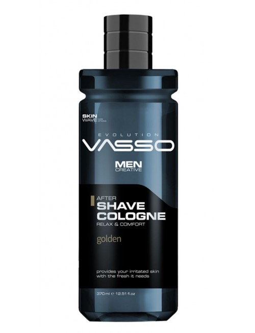 Professional aftershave cologne with floral aroma for freshness Vasso After Shave Cologne Gold, 370ml. .