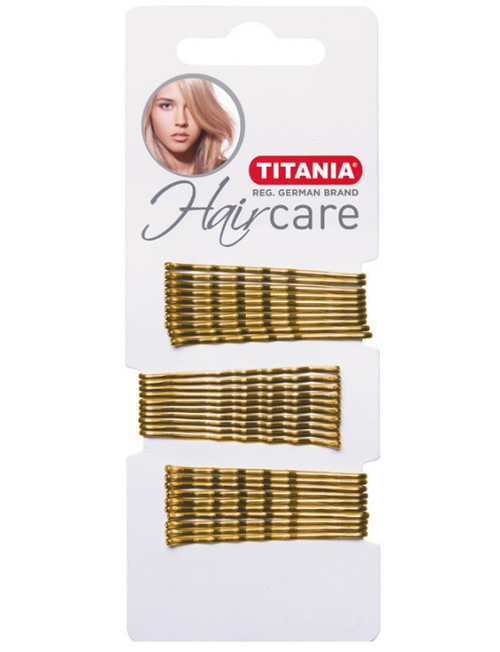Titania golden hairpins 5cm. 30pc.
