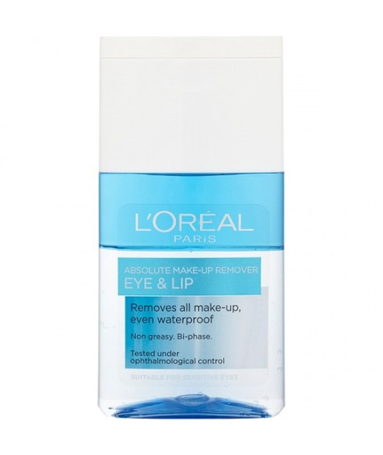 Loreal Paris Absolute Make-Up Remover Eye And Lip 125ml.