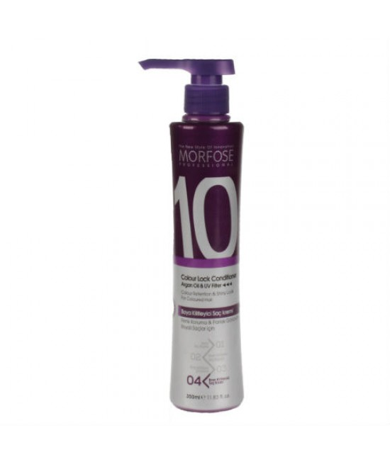 Morfose Professional (10)  Colour Lock Conditioner Argan Oil & UV Filter, 350ml.