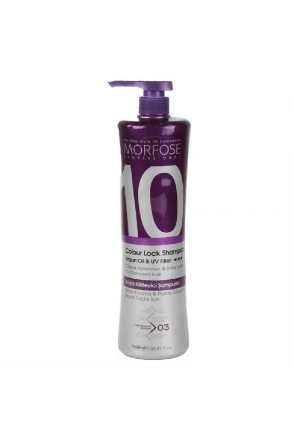 Professional Shampoo Morfose (10) Color Lock 1000 ml.