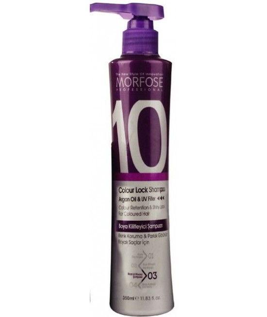 Morfose Professional (10) Colour Lock Shampoo Argan Oil & UV Filter, 350ml.