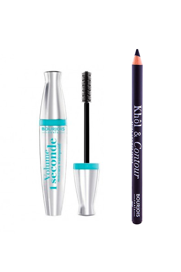 Bourjois 1 Seconde WP Mascara + Bourjois Khol & Contour Eyeliner Set