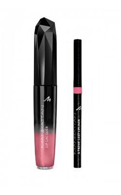 Lipstick Lip Color Manhattan Lip Lacquer + Manhattan X-Treme Last Lipliner 58M