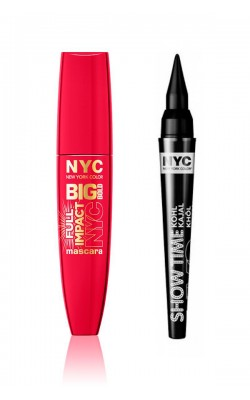 NYC Big Bold Mascara and NYC Show Time Kohl Kajal Eyeliner Set