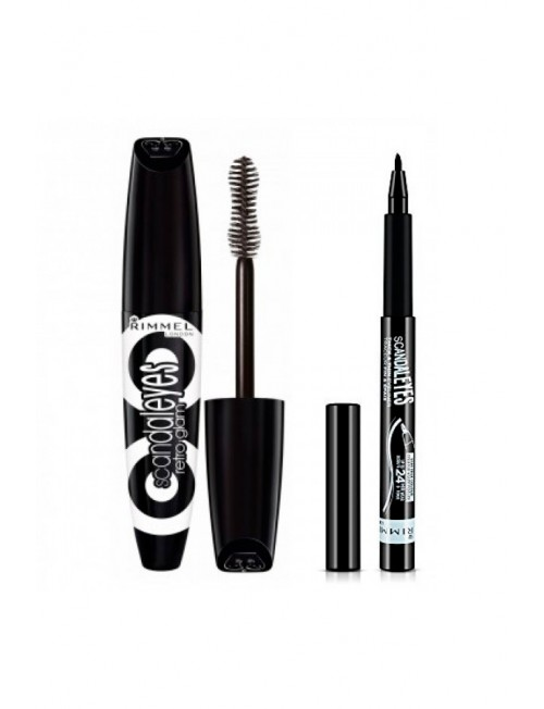 Eyeshadow Set Rimmel Scandaleyes Retro Glam Mascara + Rimmel London Scandaleyes Thick & Thin Eyeliner