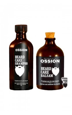 Professional shampoo and beard balm for Morfose Ossion Beard Care