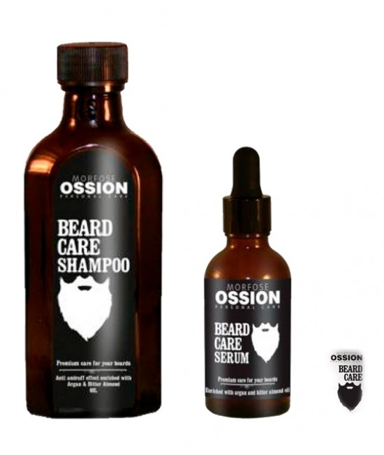 Professional shampoo and beard serum Morfose Ossion Beard Care
