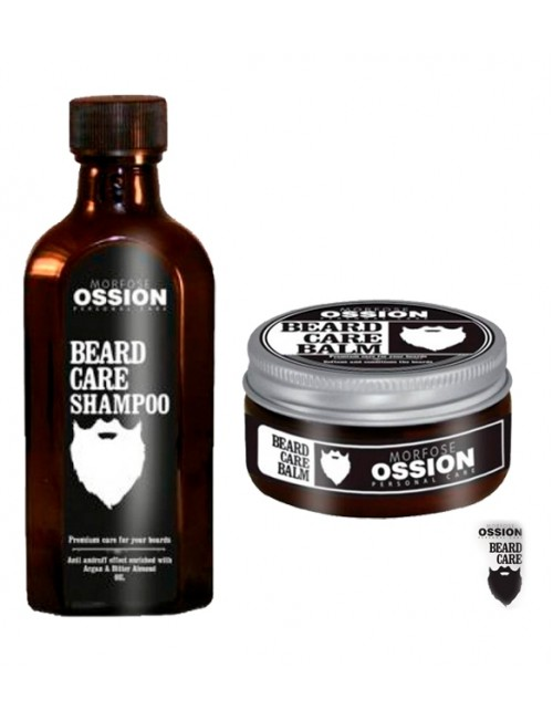 Professional shampoo and beard wax Morfose Ossion Beard Care