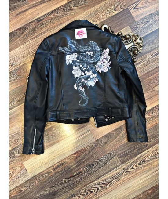 Unique Ladies Genuine leather jacket