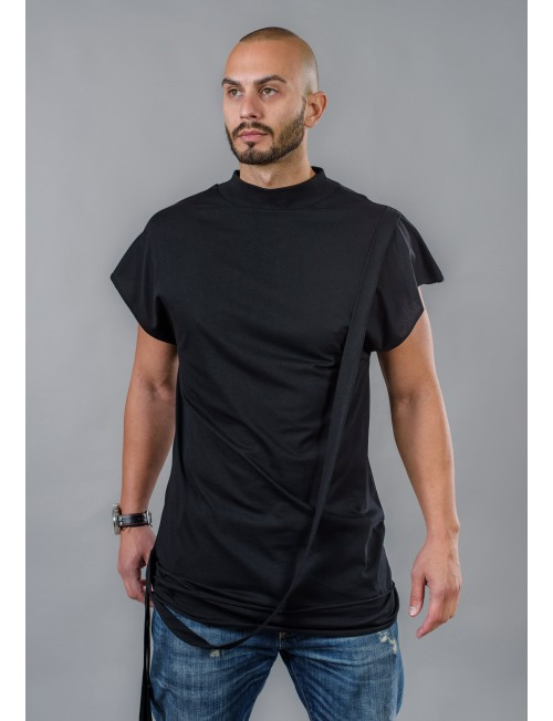 Men's Long T-Shirt with Ribbon Row BM514