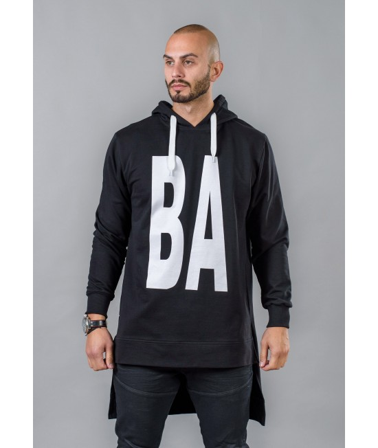 Men's long sweatshirt with hood BM525