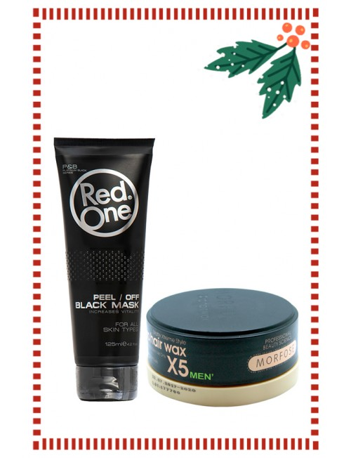 Gift set for him, black face mask + professional hair wax.