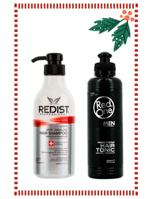 Gift Set For Him, Professional Hair Loss Shampoo + Professional Menthol Hair Tonic.
