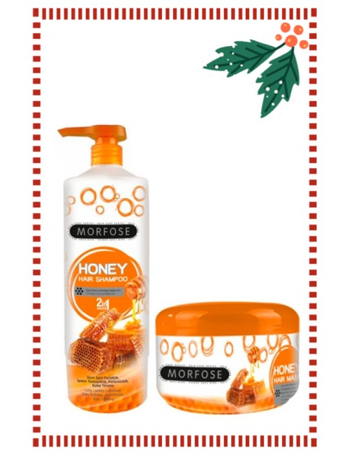 Set of Morfose Professional Honey Shampoo 1l. & Mask 500ml.