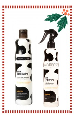 Set of Morfose Professional Milk Therapy Shampoo 400ml. & Two Phase Conditioner 400ml.